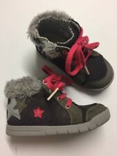 Clarks Star Zipped Laces Boots Size 5,5 F Infant Autumn Winter