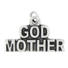 STERLING SILVER GOD MOTHER CHARM PENDANT
