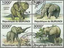 Timbres Animaux Eléphants Burundi BF154 o année 2011 lot 1297 - cote : 18 €
