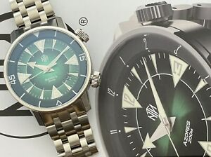 NTH Azores Absinthe Compressor Style Dive Watch With Date