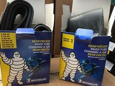 """Michelin Inner Tube Set Pair 21"""" Front 19"""" Rear (110) Heavy Duty Motocross Endur"""