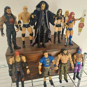 WWE Elias Goldberg Kane Undertaker Lot (10) Mattel WWE Wrestling Loose