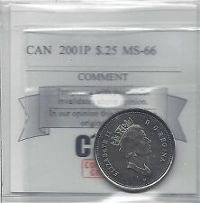 **2001P**Coin Mart Graded Canadian, 25 Cent, **MS-66**