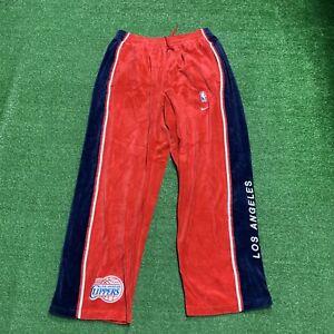 Vintage Nike Los Angeles Clippers Warm Up Pants Velour men's size XL