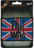 Official Licensed Merch Woven Sew-on PATCH Mod Rock THE WHO Union Flag Logo