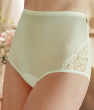 4 prs VANITY FAIR Brief PERFECTLY YOURS LACE NOUVEAU 13001 Panty YELLOW - 11/4XL