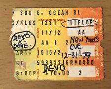 1979 Devo / X / Dove Long Beach Concert Ticket Stub Exene Cervanka Billy Zoom