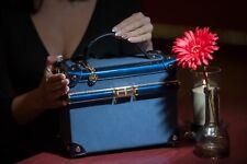 Clutch Box Koffer Damen Tasche Abendtasche Umhängetasche cosmetic Bag сумка blau