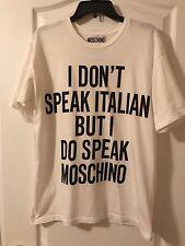 MOSCHINO COUTURE t shirt Women I don't speak Italian Size XS