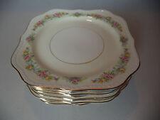 12 Vintage Homer Laughlin Eggshell Georgian Rose Square Luncheon Plates! E51N4