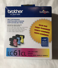Brother Ink Cartridges LC61CL: Cyan, Magenta & Yellow 12/2020