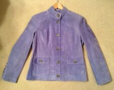 NWT! Women's Marshall Fields Periwinkle Suede Button Up Jacket Sz 14