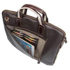 "Mens Leather Slim Briefcase Business Bags Attache 15.6"" Laptop Bag Handbag Totes"