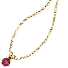 NEU Anhänger rosa Edelstein 585er echt Gold Gelbgold 14 Karat Kettenanhänger
