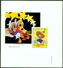 Belize 1986 Christmas Disney $4 SS PROOF CORNER COPY