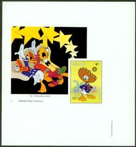 Belize 1986 Christmas Disney $4 SS PROOF CORNER COPY
