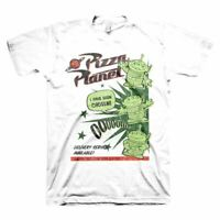 Men's Disney Toy Story 4 Pizza Planet White T-Shirt
