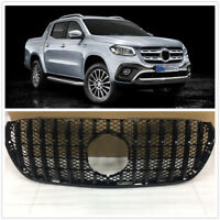 Front GT Grille Upper Grill For Mercedes Benz X-Class 2018 2019 2020 Black MA