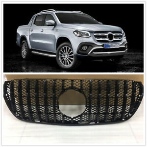 Car Front GT Grille Upper Grill For Mercedes Benz X-Class 2018 2019 2020 Black