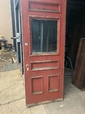 vintage c1890 farm house glass entrance door 80/32.25/1.75� - old glass 24/20�