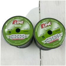 LOT OF 2 600 YD SPOOLS OF P-LINE CXXQG 8# FISHING LINE MOSS GREEN EXTRA STRONG N
