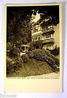 alte Ansichtskarte Postkarte Künstlerkarte Haus Minerva Berchtesgaden