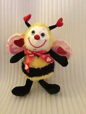 "Dan Dee Valentine Bumblebee. 10"" Plush Stuffed AnimL"