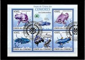 Briefmarken -Comores -Fische -Block  -2009