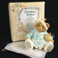 Enesco Cherished Teddies Figurine Bear & Hot Water Bottle 127965 Get Well 1994