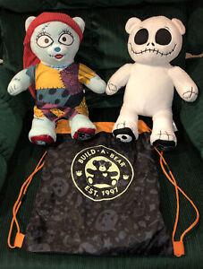 Build A Bear Nightmare Before Christmas Plush Jack Skellington & Sally EUC!!