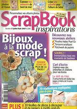 SCRAPBOOK INSPIRATIONS N°09 BIJOUX A LA MODE SCRAP  / 70 REALISATIONS EXPLIQUES