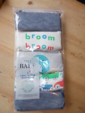 M&S Set of 5 Long Sleeved Bodysuits NEWBORN 50cm Grey Marl Mix BNWT