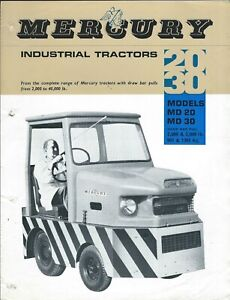 Equipment Brochure - Mercury - MD 20 30 - Industrial Tractor c1969 Tug (E6299)