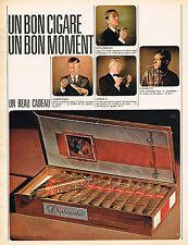 PUBLICITE ADVERTISING 045  1966  DIPLOMATES   cigares en coffret un beau cadeau