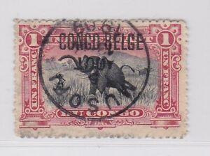 Belgian Congo 1909 1 fr value  MUSOFI