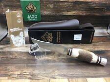 2010 Puma 116300 Pathfinder Stag Knife Stainless Steel Leather Sheath - Mint