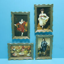 Dollhouse Miniature Victorian Portraits and Ballet Performance Picture Set 5370
