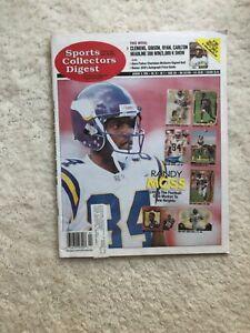1999 Sports Collectors Digest Superstar Rookie Randy Moss Minnesota Vikings