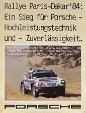 ORIGINAL 1984 PORSCHE POSTER 911 ALLRAD 4x4 Rallye PARIS-DAKAR 101x76cm Affiche
