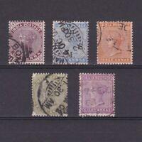 INDIA 1882, Sc# 38-44, part set, 'Queen Victoria', Used