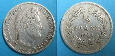 1/2 Franc  LOUIS-PHILIPPE I - 1844 W - Argent