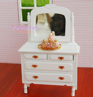 1:12 Dollhouse Miniature Bedroom Furniture Dresser With Mirror 1PCS WB0023