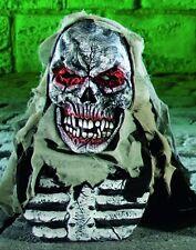 Skeleton Overhead Mask & Chest Piece Halloween Fancy Dress NEW P6482