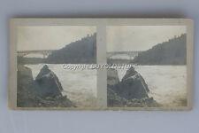 original 1901 Stereoview Whirlpool Rapids NIAGARA FALLS