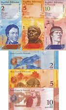 Venezuela - Lot Stock 3 Banknotes 2/5/10 Bolivares Fds - UNC