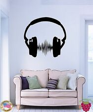 Wall Stickers Vinyl Decal Headphones Sound Music Party z1149