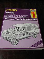 FORD  VANS WORKSHOP  MANUAL  1969 THRU  1988  HAYNES  EXLNT