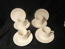 Ivory Toscany Collection Demitasse Cups and Saucers 4 ea