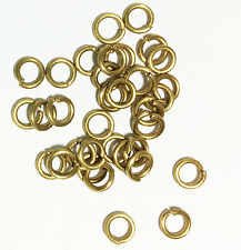 100 raw brass  Open Jump Rings 6mm, bulk raw brass jumprings 18g