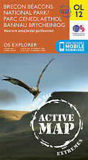 OL12 Brecon Beacons Western Central  LAMINATED ACTIVE  Explorer Map OL 12